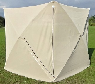 SKEETA CUBE Net Tent - closed & Mosquito Netting No-see-um NettingBio control Field CagesBed ...