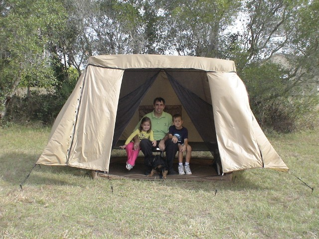 Family in Skeeta Tent