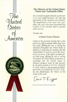 United States Patent No. 7,921,863